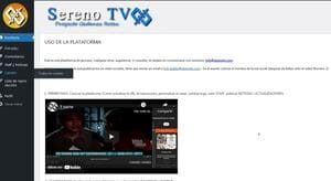 sumate al proyecto sereno tv plataforma